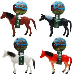 96 Units of Horse Tied On Pegable Card - Animals & Reptiles