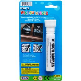 108 Units of ERASABLE WINDOW MARKER ON BLISTER CARD - Chalk,Chalkboards,Crayons