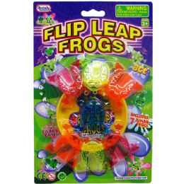 108 Units of TOY LEAPING FROGS ON BLISTER CARD - Light Up Toys