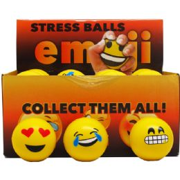 144 Units of EMOJI BALLS - Slime & Squishees