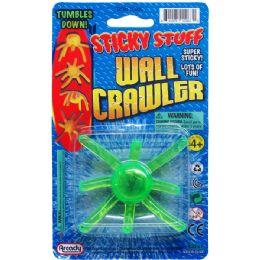 144 Units of STICKY WALL CRAWLER ON BLISTER CARD - Novelty Toys