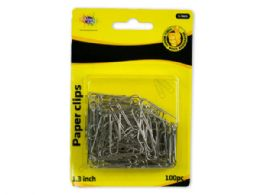 144 Units of Silver Paper Clip 100pc - Paper clips
