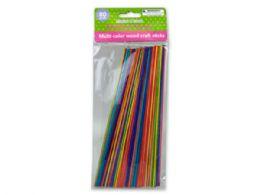 72 Units of MultI-Color Wood Craft Sticks 80 Pack - Craft Kits