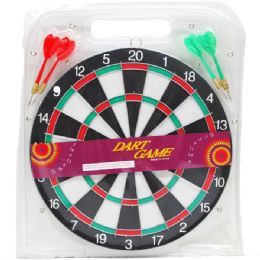 24 Units of Dart Board With Darts In Pegable Blister Pack - Darts & Archery Sets