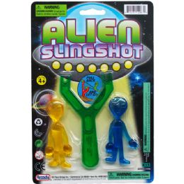 108 Units of ALIENS WITH SLINGSHOT ON BLISTER CARD - Magic & Joke Toys