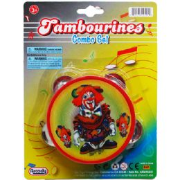 144 Units of Tambourine On Blister Card - Magic & Joke Toys