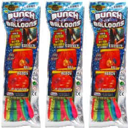 144 Units of Water Balloon W/ Filler In Pegable Pouch Bag - Water Balloons