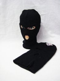 60 Units of Black Ski Mask 3 Hole - Winter Hats