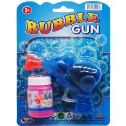 108 Units of BUBBLE GUN ON BLISTER CARD - Bubbles