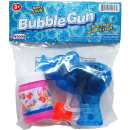 108 Units of BUBBLE GUN IN POLY BAG W/ HEADER CARD - Bubbles