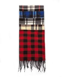 144 Units of Fleece Scarves - Plaid Prints - Winter Scarves