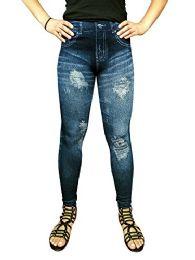 Yacht & Smith Women's Denim Jeggings Fashion Leggings One Size (style a) - Womens Leggings