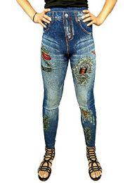 Yacht & Smith Women's Denim Jeggings Fashion Leggings One Size (style d) - Womens Leggings