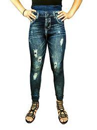 Yacht & Smith Women's Denim Jeggings Fashion Leggings One Size (style f) - Womens Leggings