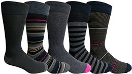 Yacht&smith 5 Pairs Of Mens Dress Socks, Colorful Fun Pattern Design, Casual (assorted i) - Mens Dress Sock