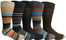 Yacht&smith 5 Pairs Of Mens Dress Socks, Colorful Fun Pattern Design, Casual (assorted q) - Mens Dress Sock