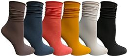 Yacht & Smith 6 Pack Women's Ruffle Slouch Socks Size 9-11 - Womens Ankle Sock