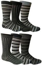 6 Pairs Of Yacht&smith Dress Socks, Colorful Patterned Assorted Styles (pack a) - Mens Dress Sock