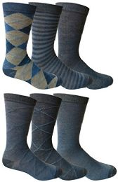 6 Pairs Of Yacht&smith Dress Socks, Colorful Patterned Assorted Styles (pack e) - Mens Dress Sock