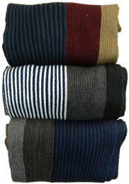 Yacht&smith 3 Pack Designer Winter Scarves, Stripe Patterned Neck Scarf, Unisex (option C) One Size - Winter Scarves