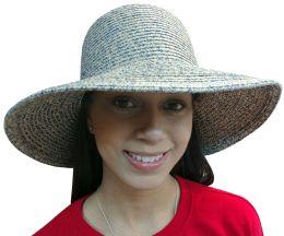 Yacht & Smith Floppy Stylish Sun Hats Bow And Leather Design, Style D - Navy - Sun Hats