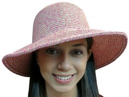 Yacht & Smith Floppy Stylish Sun Hats Bow And Leather Design, Style D - Rose - Sun Hats
