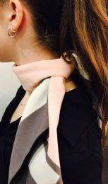 Yacht&smith Neck Scarf With Buckle, 50s Style Retro, Vintage Tie Shawl Wrap (chic Pink) - Womens Fashion Scarves