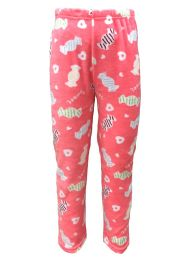 Yacht & Smith Women's Butter Soft Fleece Fuzzy Lounge Pants One Size Lips Print (sweets And Hearts Print) - Women's Pajamas and Sleepwear
