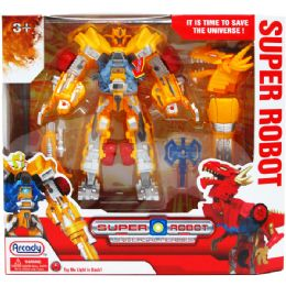 12 Units of Robot With Light And Accessories In Window Box - Action Figures & Robots