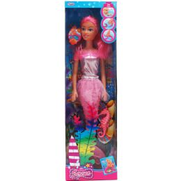 24 Units of MERMAID DOLL WITH ACCESSORIES IN WINDOW BOX - Dolls