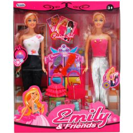24 Units of EMILY AND FRIENDS DOLLS WITH ACCESSORIES IN WINDOW BOX - Dolls