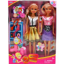 24 Units of TWO PIECE BENDABLE DOLLS WITH ACCESSORIES IN WINDOW BOX - Dolls