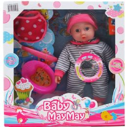 12 Units of BABY DOLL WITH SOUND AND ACCESSORIES IN WINDOW BOX - Dolls