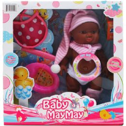 12 Units of ETHNIC BABY DOLL WITH SOUND AND ACCESSORIES - Dolls