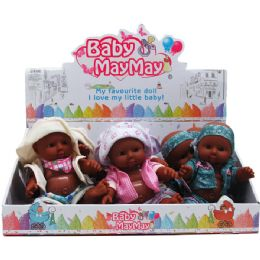 36 Units of ETHNIC BABY DOLL WITH SOUND IN NINE PIECE DISPLAY BOX - Dolls