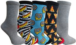 Yacht&smith 5 Pairs Of Womens Crew Socks, Fun Colorful Hip Patterned Everyday Sock (color Prints d) - Womens Crew Sock