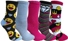 Yacht&smith 5 Pairs Of Womens Crew Socks, Fun Colorful Hip Patterned Everyday Sock (color Prints a) - Womens Crew Sock