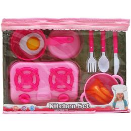 24 Units of 9 & 11PC KITCHEN/TEA SET IN PEGABLE ZIPPER BAG - Girls Toys