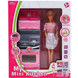6 Units of KITCHEN STOVE WITH DOLL IN WINDOW BOX - Dolls