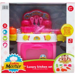 6 Units of KITCHEN PLAY SET WITH LIGHT AND SOUND IN COLOR BOX - Dolls