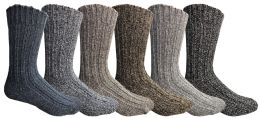36 Units of Wool Socks For Men, Hunting Hiking Backpacking Thermal Boot Socks - Mens Thermal Sock