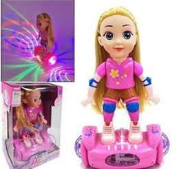 6 Units of Sporty Dolls on Light Up Balancing Board - Dolls