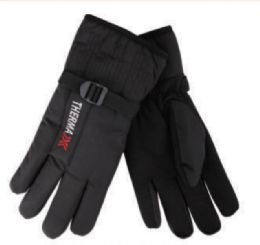 36 Units of Mens Warm Thick Insulated Fleece Gloves - Ski Gloves