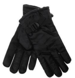 36 Units of Mens Warm Insulated Fleece Gloves With Gripper Palm - Ski Gloves