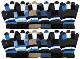 12 Units of Yacht & Smith 12 Pair Kids Warm Winter Colorful Magic Stretch Gloves For Age 2-5 - Kids Winter Gloves