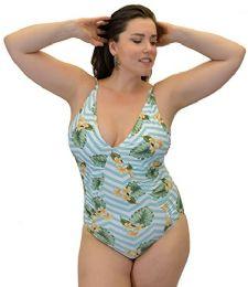 Yacht & Smith Plus Size Womens Swimsuit, Fashion One Piece Bathing Suit Tank (island, 3x) - Womens Swimwear