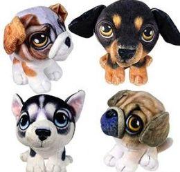 24 Units of Plush Velvet Dogs - Plush Toys
