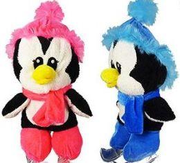 12 Units of Plush Ice Skating Penguins - Plush Toys