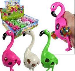 144 Units of Squishy Gel Bead Flamingo Stress Balls - Slime & Squishees