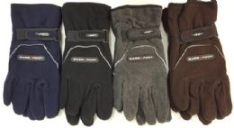 36 Units of Double Fleece Layered Man Gloves Winter Gloves - Winter Gloves